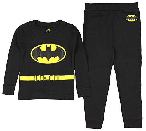 Authentic Man Of Steel Costume (DC Comics Toddler 'Batman Superhero Logo' Cotton Costume Pajama Set, black, )