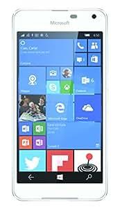 "Microsoft 650 - Smartphone de 5"" (RAM de 1 GB, memoria interna de 16 GB, cámara de 8 MP, Windows) blanco"