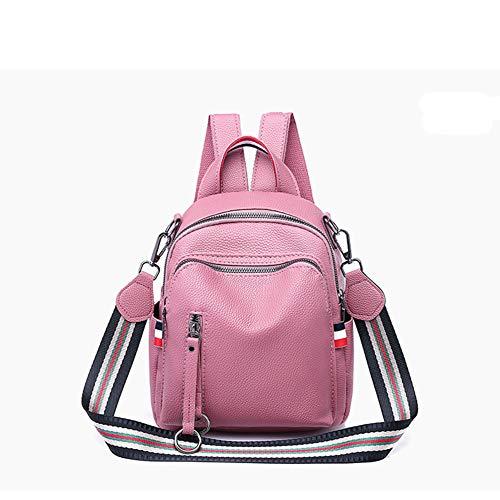 Mini à Rose sac à Sac Main Weisidun à Souple Sauvage dos en Usage dos Automne Sac et à Cuir Hiver Femme Polyvalent Double Nouvel pour 2018 wd4YXvqY