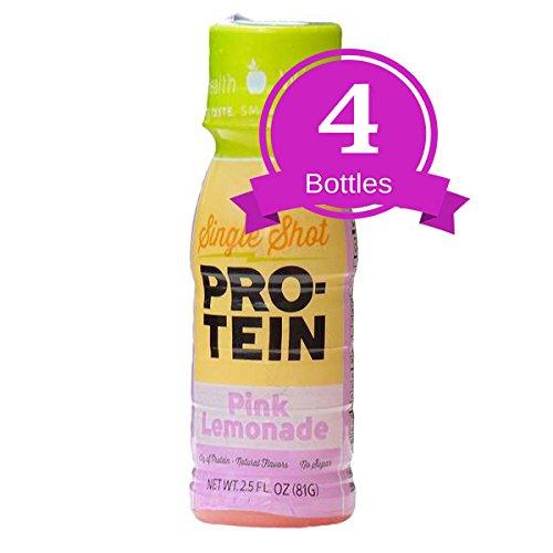 NutriWise - High Protein Diet Drink | Pink Lemonade Shot | Low Calorie, Fat Free, Sugar Free (4-Pack Bottles)