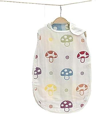CWLLWC Saco de Dormir para bebé,Saco de Dormir de algodón Gasa Estilo Chaleco Anti-Kick por Aire Acondicionado es Transpirable 0-3 años