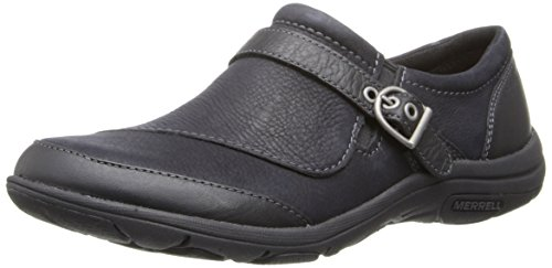 Merrell Women's Dassie Buckle Slip-On Shoe,Black,9 M US