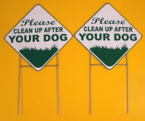 WestGlobal 2 PLEASE CLEAN UP AFTER YOUR DOG 10X10 Plastic Co