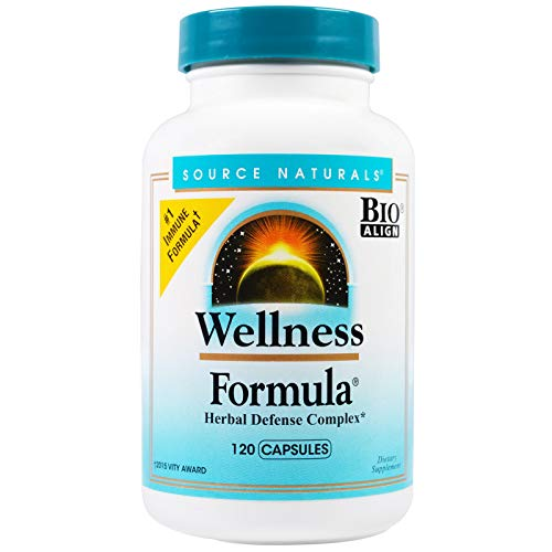 Source Naturals Wellness Formula Bio-Aligned Supplement - Herbal Defense Complex, Immune System Support & Immunity Booster - 120 Capsules