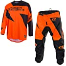 2019 ONEAL MATRIX Adult MX Motorcycle ATV Quad Dirt Bike Enduro Motocross Gear Protective Clothing Off Road Race Suit (ORANGE) (ORANGE : TOP (2XL), PANT : 38 inches)