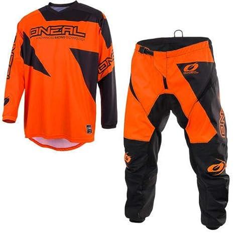 2019 ONEAL MATRIX Adult MX Motorcycle ATV Quad Dirt Bike Enduro Motocross Gear Protective Clothing Off Road Race Suit (ORANGE) (ORANGE : TOP (L), PANT : 32 inches)