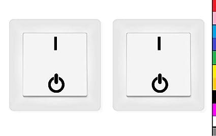 Generisch 2x Schalter Aufkleber Ein Aus On Off Aufkleber