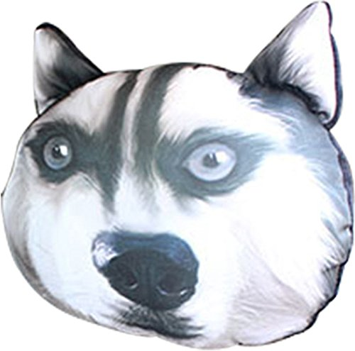 Joyshop Headrest Pillow Husky Pet Dog Auto 3D Cute Animals Head Restraints Of Automobile Seat Large Size,Pattern 5