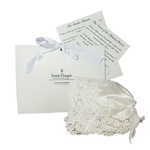 Generation Keepsakes Bonnets to Bouquets Baby to Bride Keepsake Sequined Christening Bonnet and Wedding Handkerchief Kit, Ivory.