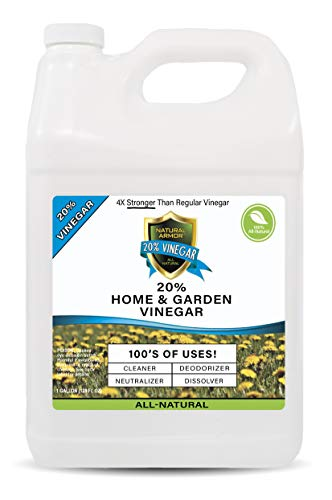Price comparison product image 20% Vinegar Pure Natural & Safe Industrial Strength Concentrate for Home & Garden & Literally Hundreds of Other Uses (1-128 OZ Gallon) 4X Stronger Than Regular Vinegar
