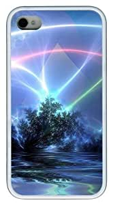 3d nature and light TPU White Case for iphone 4S/4