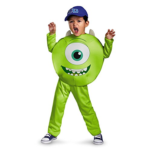 Costume Halloween Mime Make (Disney Pixar Monsters University Mike Toddler Classic Costume,)