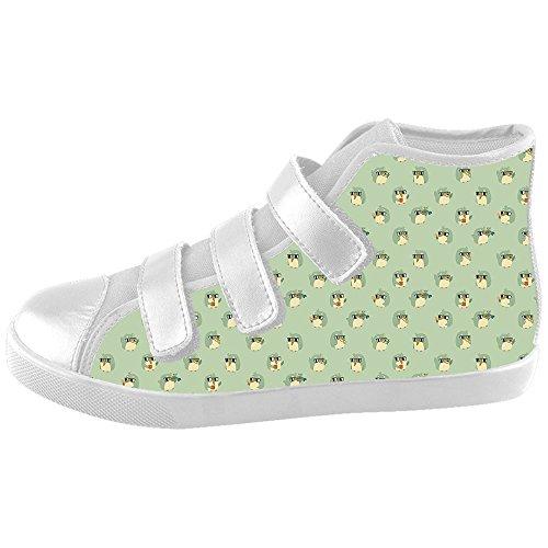 Daniel Turnai Fan Custom Kid's Shoes Penguin New Velcro High Top Canvas