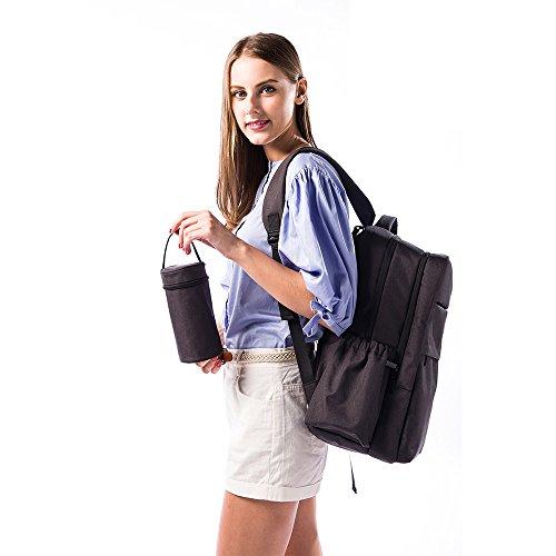 Paño de Oxford Mochila de viaje multifunción bolsa de bolsa de pañales bebé manos libres para pañales mochila gran capacidad mamá bolsa asequible rojo rosso Negro