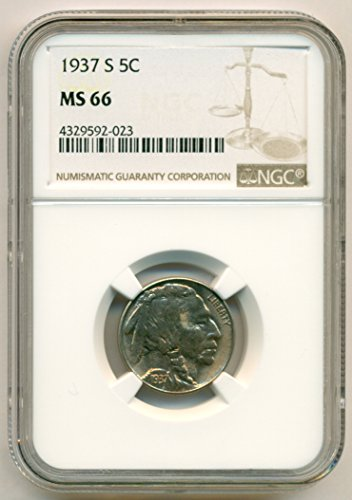 1937 S Buffalo Nickel MS66 NGC