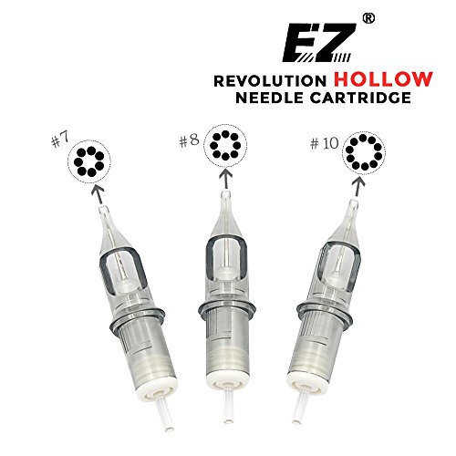 EZTAT2 New Revolution Hollow Tattoo Cartridge Needles Regular 7 Round Liner Long Taper