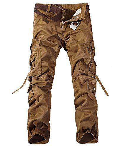 40 Pantalon Fuweiencore Khaki Dark Foncé coloré Gris Taille Camo Militaire Eu 8xxUwf