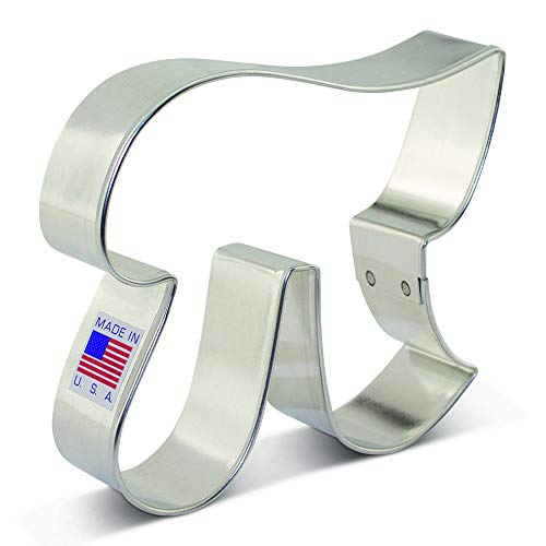 Pi Symbol by Flour Sugar Butter Cookie Cutter - 3.75 Inch - Ann Clark - USA Made Steel (Teacher Gift Cookie)