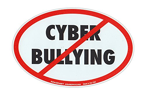Magnetic Bumper Sticker - Stop Cyber Bullying (Anti Bully Campaign) - Oval Shaped Awareness Support Magnet - 6