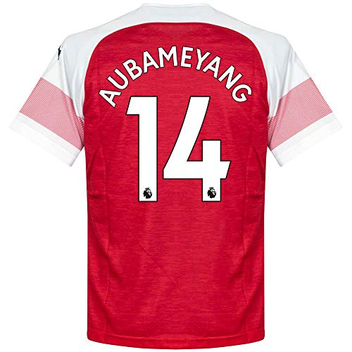 (PUMA Arsenal Home Aubameyang 14 Jersey 2018/2019 (Authentic EPL Printing) - L)