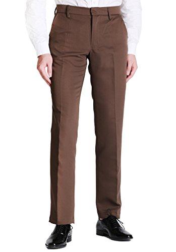 Vero Viva Men's Straight Leg Fit Flat Front Dress Pants Business Casual ()