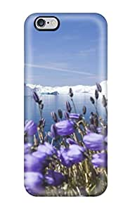 Rolando Sawyer Johnson's Shop Best 5035853K73764415 High Quality Purple Arctic Flowers Skin Case Cover Specially Designed For Iphone - 6 Plus