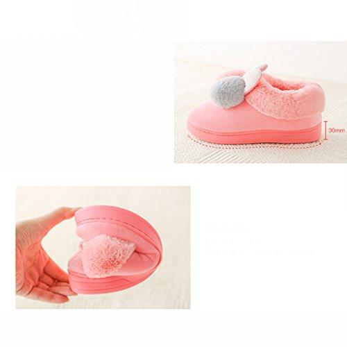 Demi Avec Des Pur Hiver Pantoufles Coton 2 Chaussures Épais Mignon De 37 Maison sac couleur Chaussons Eur 36 Taille Pattern Chaudes gwq8vAg
