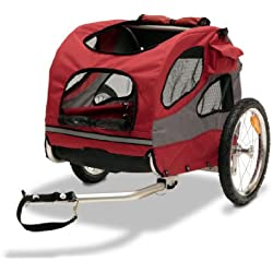 Solvit HoundAbout II Pet Bicycle Trailer, Aluminum Frame, Medium