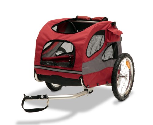 Solvit HoundAbout II Pet Bicycle Trailer, Aluminum Frame, Medium from PetSafe
