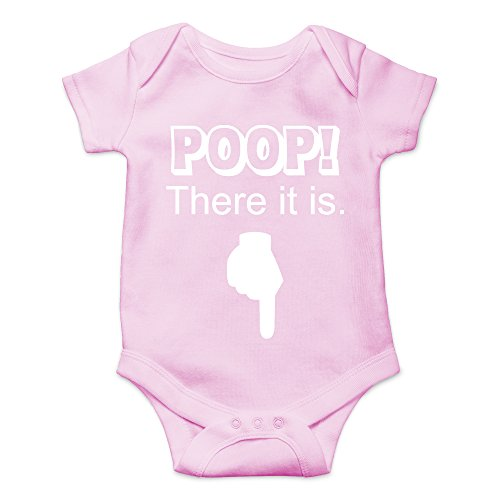 (Crazy Bros Tees Poop! There It is Funny Cute Novelty Infant One-Piece Baby Bodysuit (6 Months,)