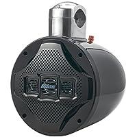 Lanzar Marine 8 Bluetooth Wakeboard Speaker [Ative-Powered Marine Tower Speaker] 4-Way Water Resistant | 1200 Watt (AQAWBS8BK)