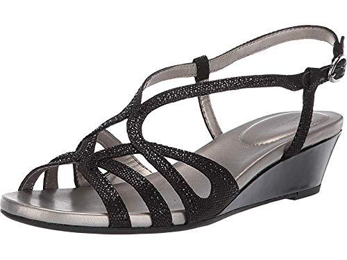 Bandolino Womens Gyala Wedge Sandal Black 8 -