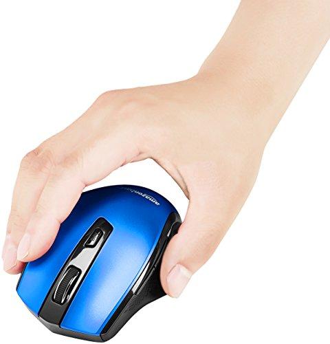 Amazon Basics Ergonomic Wireless PC Mouse - DPI adjustable - Silver