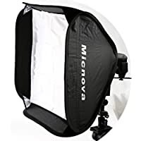 Micnova SB60 24x24 Softbox Kit with Speedlight L-Type Bracket for all Camera Flashes