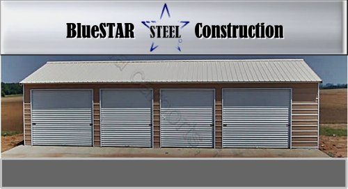 买便宜的steel building vertical roof car garage wide long high 10x8 and 8x8 roll doors walk