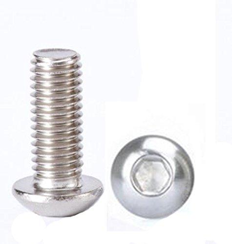 M3x16mm Button - M3x16mm Button Head Hex Socket Cap Screws,Full Thread,304 stainless steel bolts Screws 100pcs (M3x16mm)