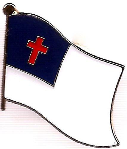 Pack of 50 Christian Flag Lapel Pins, Apostolic Pin Badge