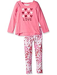 The Children's Place Girls' Her Li'l Printed Top and...