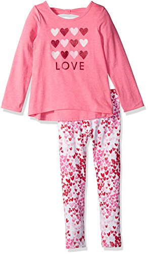 [The Children's Place Toddler Girls' Her Li'l Printed Top and Legging Outfit Set, Valentine Neon Berry,] (Neon Outfits)