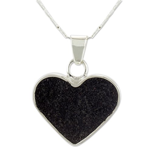 Silver Heart Shaped Necklace, 18