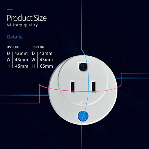 Z-Wave Smart Outlet, Zwave Plug Home Automation Mini Z Wave Socket Work With Wink, Smartthings, Vera, Zipato, Iris and Fibaro (3 pack) By HAOZEE ¡ by HAOZEE (Image #5)