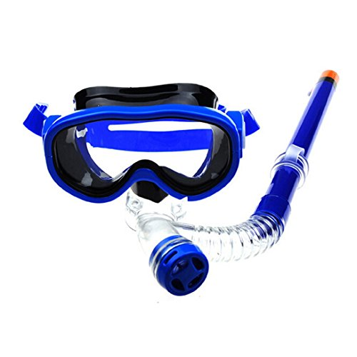 OnBal(TM) Children Kids Swimming Goggles Semi-dry Diving Snorkel Equipment Snorkeling Mask Snorkel Set (Blue)