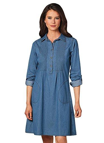 (Carol Wright Gifts Denim Pinktuck Dress, Size Extra Large (4X), Denim, Size Extra Large (4X))
