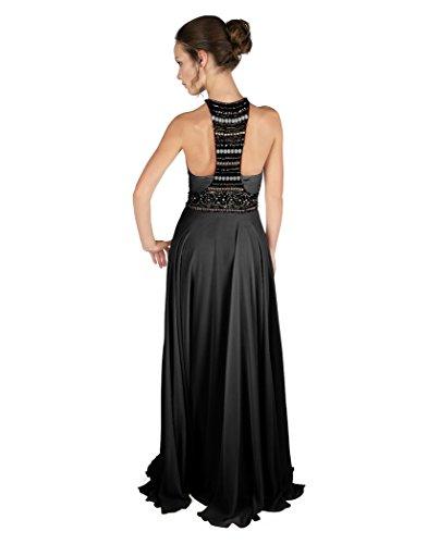 Spirit Cora Pewter Zinn Lange Kleid Damen mit Dynasty Black Stil schwarz 1022805 Schal 6AFwcgq
