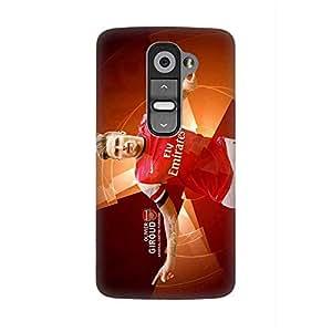 Arsenal Football Club Olivier Giroud 3D Funda Case for LG G2 Anti Dust Thin Hard Protective Funda Case Phone Accessories