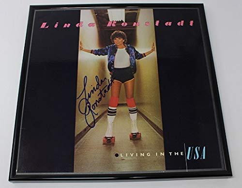 Linda Ronstadt Living in the USA Signed Autographed Lp Record Album with Vinyl Framed Loa (Linda Ronstadt Heart Like A Wheel Vinyl)