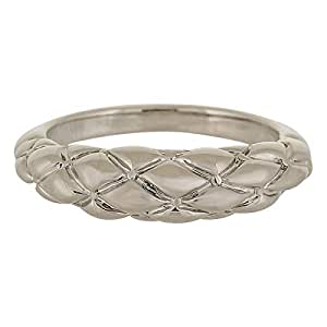 Venus Accessories Women's Rhodium Plated Alloy Ring - Size 5