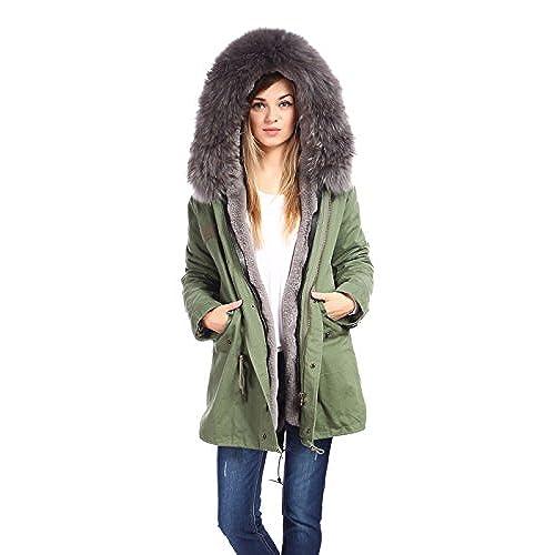 Real Fur Lining Parka: Amazon.com