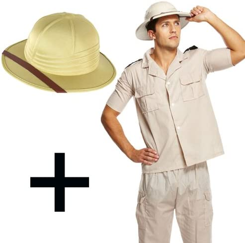 Mega Fancy Dress Safari - Disfraz de Explorador + Sombrero: Amazon ...