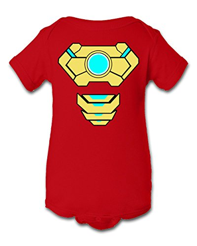 Tee Tee Monster Baby Boys'Ironman 2 Inspired Onesie 6 Month Red -